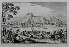 BELGIEN DINANT KUPFERSTICH MERIAN TOPOGRAPHIA MALERISCHE ANSICHT LEGENDE 1650