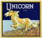 Orange+Crate+Label+1930s+Unicorn+Brand+Gold+Buckle+CA+Art+Print+