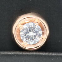 1Ct Solitaire Round Diamond Pendant Charm Enhancer SOLID 14k Rose Gold Jewelry