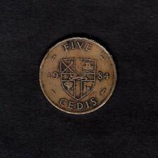 Ghana 1985 Cedis moneda de 5
