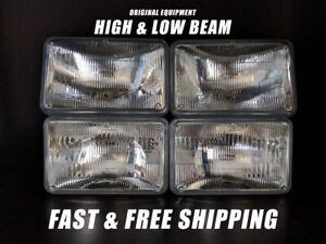 OE Front Headlight Bulb for Oldsmobile Cutlass 1976-1986 High & Low Beam x4