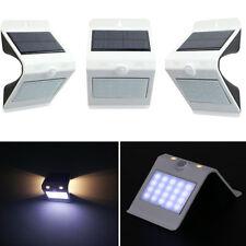 LED Solarenergie PIR Motion Sensor Wandleuchte Garten Wandlampe Aussenleuchte H5