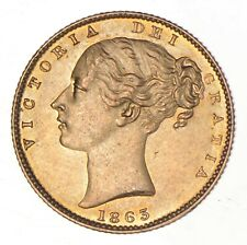 1863 Great Britain Gold Sovereign *8162