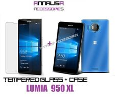 CUSTODIA COVER + PELLICOLA VETRO TEMPERATO NOKIA LUMIA 950XL CASE TEMPERED GLASS