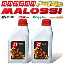 2 LITRO OLIO MALOSSI 7.1 2T RACING 100% SINTETICO MISCELA SCOOTER MOTORE 2 TEMPI