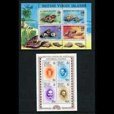 BRITISH VIRGIN ISLANDS 1974 Historical Figures & Shells. 2 Sheets. MNH. (AH016)
