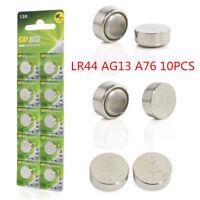 10x GP Alkaline A76 LR44 batteries 1.5V AG13 303 357 V13GA L1154 SR44