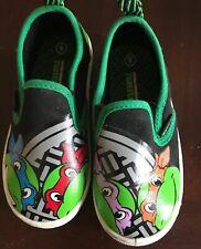 Teenage Mutant Ninja Turtles Tennis Shoe Canvas Slip On Sneaker Boy Toddl Sz 8