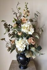 """ROMAN BEAUTY"" - Traditional Tuscan Anytime Floral Silk Tabletop Arrangement"