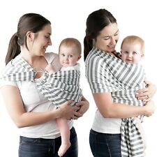 New Kids N Such Striped Cotton Baby Carrier Wrap Ring Sling 4-in-1 Solly Moby