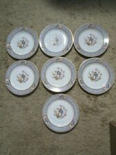 P T Bavaria Tirschenreuth Set Of 7 Plates  -  Florida Pattern  - Made in Germany