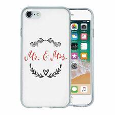Pour Apple Iphone 7 Étui en Silicone Mr et Mrs Mariage - S4692