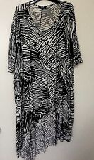 ASOS ZEBRA PRINT HIGH LOW ASYMMETRIC KAFTAN TOP TUNIC s 20