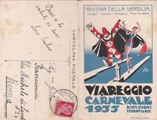 * CARNEVALE DI VIAREGGIO - Cartolina apribile con Programma 1935 Uberto Bonetti