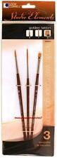 Loew Cornell STUDIO ELEMENTS 1024914 GOLDEN TAKLON Brush Set Script Line Shader