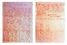 Stampa incorniciata-Jack lo Squartatore lettera alle pagine di polizia 1 & 2 (foto REPLICA
