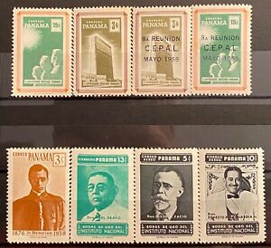 PANAMA - DIFFERENT TOPICS - LOT OF 8 MH STAMPS