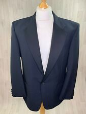 "St Michael M&S • Vintage Black Formal Tuxedo Dinner Jacket • Size Large 40"""