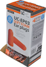 UC-EP03 Standard PU Foam Ear Plugs Dispnser Box Of 200 (SNR37) Noise Protection