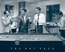 Poster RAT PACK - Pool Billard (Sinatra, Martin, Davis Jr.) ca85x60cm NEU 55129