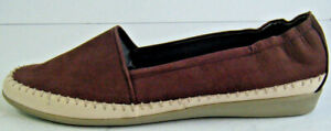Studio W by David Jones Burgundy Leather Slip On Shoes with Stitching RRP:$89.95