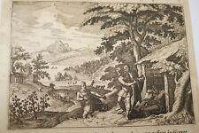 GRAVURE SUR CUIVRE CHAM NOE-BIBLE 1670 LEMAISTRE DE SACY  (B03)