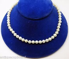 Cultured Freshwater Pearl Necklace with 10k Gold Clasp (#3236)