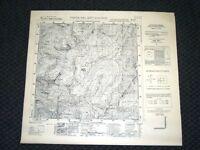 Grande carta topografica Ponte del Mut d'Avers Dettagliatissima I.G.M.