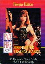FACE THE FIRE: Sexy Fire Fighter Trading Cards- Complete Set of 50- IN BOX