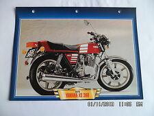 CARTE FICHE MOTO YAMAHA XS 360   1976