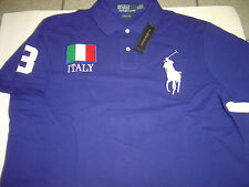 "NEW MENS RALPH LAUREN ROYAL ""ITALY"" LG PONY S/S ""CUSTOM"" POLO SIZE S  $125"