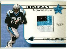 2002 Leaf Rookies & Stars DESHAUN FOSTER Freshman Orientation Patch RC SP #/650