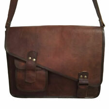Men's Bag Leather Vintage Shoulder Purse Large Tote Brown Satchel Handbag New