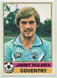 Jimmy Holmes signed 1977 / 1978 Topps Red Backs card #279 Coventry City