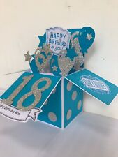 Handmade Pop Up Card In a Box Personalise Happy Birthday 18th