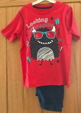 BOYS MONSTER PYJAMAS PJS AGE 8-9 YEARS GIFT PRESENT WINTER T-SHIRT LONG BOTTOMS