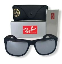 Ray-Ban Justin Wayfarer RB4165 622/6G Classic Sunglasses Black Frame Grey Mirror