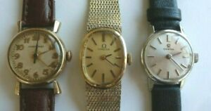 Lot of 3 Women's Vintage Wristwatches - Omega & Longines  - All Running