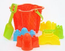 Children's Bucket and Spade Set Castle Bucket and Sand Moulds Beach Toys New