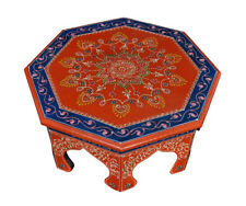Handmade Wooden Furniture Home Side Table Painted Round Low End Tables Footstool