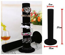 Black Velvet Watch Bangle Bangle Jewelry Display Stand Holder Rack WOMEN girl