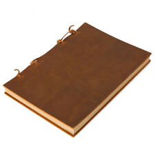 Retro Cowhide Leather Traveler's Notebook Journal Diary Brown A5 A6 A7 Handmade