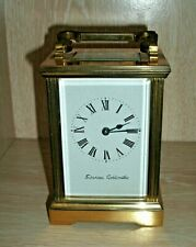 VINTAGE 8 DAY BRASS CARRIAGE CLOCK -  SWANSEA GOLDSMITHS