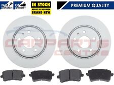 FOR AUDI A4 B8 A5 2008- REAR 300MM SOLID QUALITY BRAKE DISCS AND PADS PAD SET