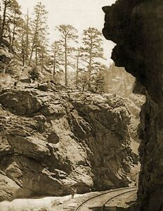 """1898-1905 Mother Grundy, Clear Creek Cañon, CO Old Photo 8.5"""" x 11"""" Reprint"""