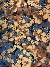 1 Metre x 150cm Japanese Navy Pink Aqua Floral Gold Luster 100/% Cotton