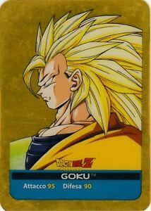 Lamincards Dragon Ball Z Edibas Serie Oro GOKU N 18 Oro