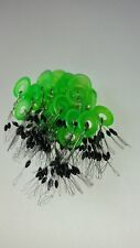 BOBBER STOPPERS (( BLACK 150PCS  25RINGS)) SIZE SMALL NEW