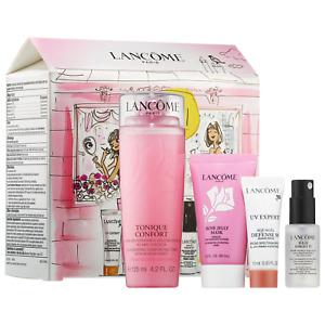 Lancome Bonjour Hydration Value Gift Set($89) Toner+mask+moisturizer+setting spr