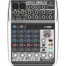 Behringer XENYX Q802usb 8 Input 2 BUS Mixer con USB